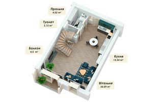 Продається будинок 4 поверховий 150.53 кв. м з мансардою