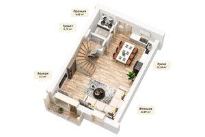 Продається будинок 4 поверховий 163.62 кв. м з садом