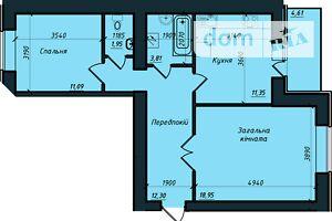 Продається 2-кімнатна квартира 61 кв. м у Полтаві