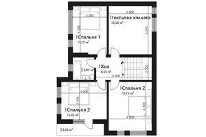 Продается дом на 3 этажа 157.45 кв. м с террасой