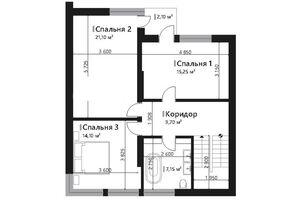 Продается дом на 3 этажа 178.4 кв. м с гаражом