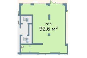 Продается офис 92.6 кв. м в нежилом помещении в жилом доме