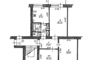 Продается 3-комнатная квартира 68.2 кв. м в Харькове