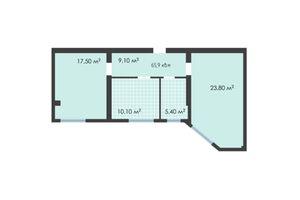 Продается 2-комнатная квартира 65.9 кв. м в Черновцах