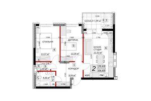 Продается 2-комнатная квартира 64.69 кв. м в Каменце-Подольском