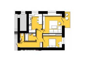 Продается 2-комнатная квартира 61.75 кв. м в Тернополе
