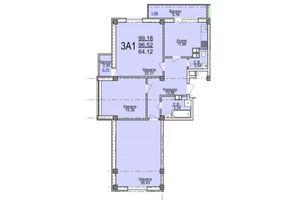 Продается 3-комнатная квартира 99.18 кв. м в Черкассах