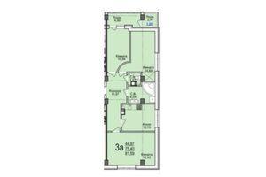 Продається 3-кімнатна квартира 81.59 кв. м у Черкасах