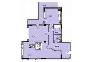 Продается 2-комнатная квартира 99.6 кв. м в Черкассах