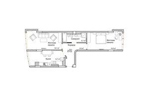 Продается 2-комнатная квартира 70.6 кв. м в Черновцах