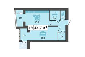 Продається 1-кімнатна квартира 51 кв. м у Кам'янці-Подільському