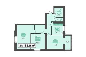 Продается 3-комнатная квартира 83 кв. м в Каменце-Подольском