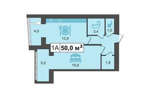 Продается 1-комнатная квартира 52.2 кв. м в Каменце-Подольском
