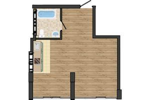 Продається 1-кімнатна квартира 40.75 кв. м у Одесі