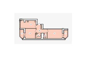 Продается 2-комнатная квартира 69.42 кв. м в Запорожье