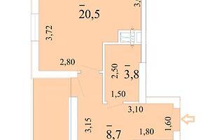 Продається 1-кімнатна квартира 33 кв. м у Одесі