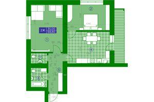 Продается 2-комнатная квартира 68.8 кв. м в Обухове