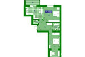 Продается 2-комнатная квартира 69.1 кв. м в Обухове