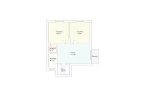Продается 2-комнатная квартира 63 кв. м в Ужгороде