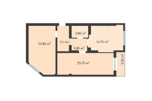 Продается 2-комнатная квартира 81.3 кв. м в Черновцах