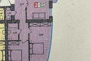 Продается 2-комнатная квартира 74.83 кв. м в Хмельницком