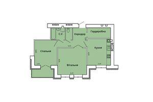 Продается 2-комнатная квартира 68.97 кв. м в Николаеве