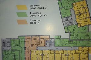 Продается 1-комнатная квартира 39 кв. м в Тернополе