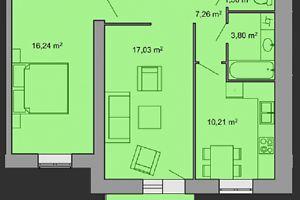 Продається 2-кімнатна квартира 59 кв. м у Тернополі