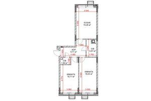 Продается 2-комнатная квартира 69.6 кв. м в Броварах