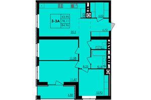Продается 3-комнатная квартира 84.96 кв. м в Черкассах