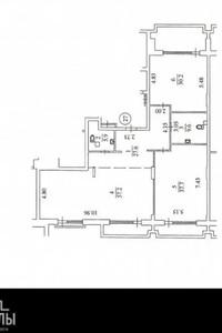 Продается 2-комнатная квартира 186.6 кв. м в Киеве