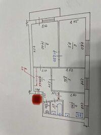 Продается 3-комнатная квартира 51 кв. м в Полтаве