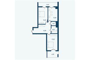 Продается 2-комнатная квартира 79.67 кв. м в Черновцах