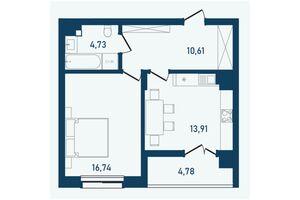 Продается 1-комнатная квартира 50.77 кв. м в Черновцах