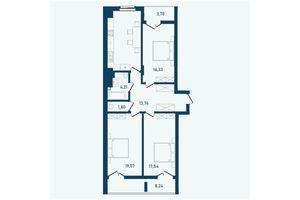 Продается 3-комнатная квартира 101.93 кв. м в Черновцах