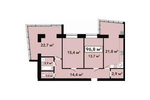 Продается 3-комнатная квартира 96.8 кв. м в Хмельницком