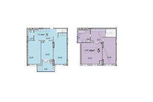 Продається 4-кімнатна квартира 127.9 кв. м у Волочиську