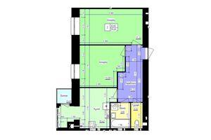 Продается 1-комнатная квартира 54.7 кв. м в Волочиске