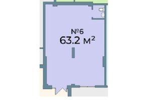 Продается офис 63.2 кв. м в нежилом помещении в жилом доме