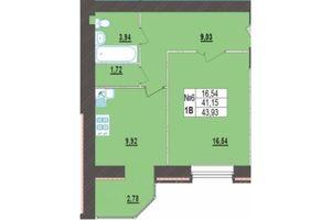 Продается 1-комнатная квартира 43.93 кв. м в Хмельницком