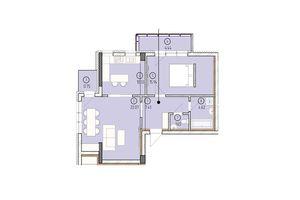 Продается 2-комнатная квартира 67.21 кв. м в Ужгороде