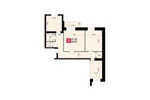 Продается 3-комнатная квартира 84.44 кв. м в Хмельницком