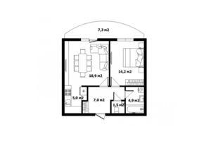 Продается 1-комнатная квартира 54.2 кв. м в Ужгороде