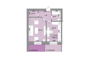 Продається 1-кімнатна квартира 44.5 кв. м у Одесі