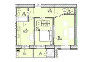 Продается 2-комнатная квартира 57.2 кв. м в Хмельницком
