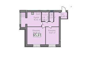 Продается 2-комнатная квартира 65.61 кв. м в Херсоне