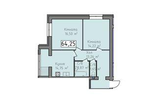 Продается 2-комнатная квартира 64.25 кв. м в Херсоне