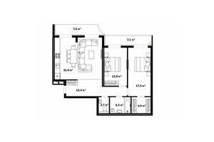 Продается 3-комнатная квартира 91.4 кв. м в Ужгороде