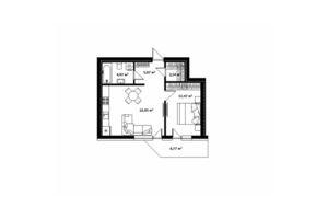 Продается 1-комнатная квартира 50.7 кв. м в Ужгороде