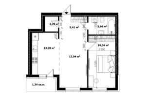 Продается 2-комнатная квартира 61.5 кв. м в Ужгороде